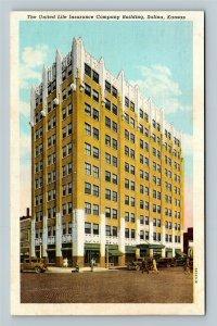 Salina KS, The United Life Insurance Company Building, Vintage Kansas Postcard