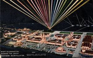 California San Francisco Night Illumination Showing Great Scintillator Panama...