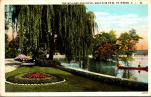New Jersey Paterson West Side Park The Willows and River 1928