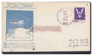 Letter USA 1st 1944 Lindbergh flight