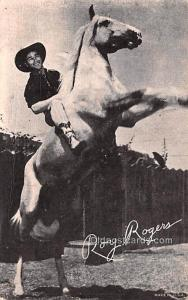 Roy Rogers Movie Star Actor Actress Film Star Postcard, Old Vintage Antique P...