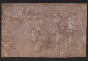 Raphael Sacrifice At Lystra Painting V&A Museum Postcard
