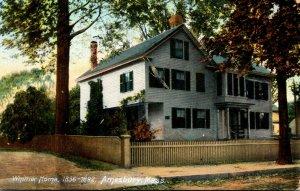 Massachusetts Amesbury The Whittier Home 1908