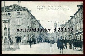 912 - CROATIA Dubrovnik/ Ragusa Postcard 1910s Town Square