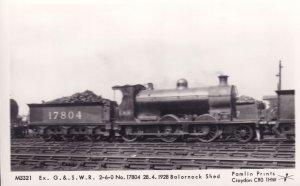G&SWR Train 2-6-0 No 17804 at Balornock Shed Trailway Postcard
