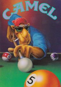 Advertising Camel Cigarettes Joe The Camel Playing Pool