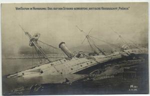 china, HONG KONG, HMS Phoenix Capsized by Typhoon (1906)