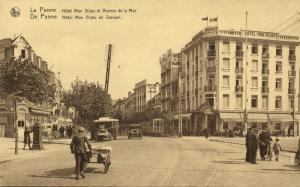 belgium, DE PANNE, Zeelaan, Hotel Mon Bijou, Tram Bus Car (1920) Postcard
