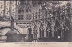 France Rouen Cathedrale Balustrade derriere l'orgue