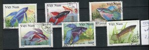 265071 VIETNAM 1992 year used stamps set FISHES
