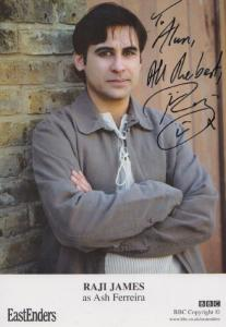 Raji James as Ash Ferreira BBC Eastenders Hand Signed Cast Card Photo
