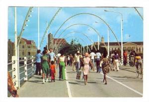 On the Pontoon Bridge, CURACAO, N.A., 50-70s