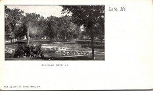 Maine Bath City Park Private Mailing Card