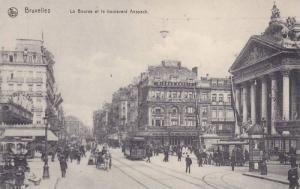 Bieres Artois, La Bourse Et Le Boulevard Anspach, Bruxelles, Belgium, 1900-1910s