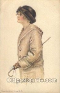 American Girl No. 41 Artist Signed Alice Luella Fidler (USA) 1914 crease top ...