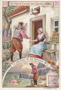 Liebig Vintage Trade Card S834 The Fisherman & His Wife Card No 3 Le Pecheur ...