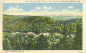 Newfound Gap, Center of the Great Smoky Mountains Nationa...