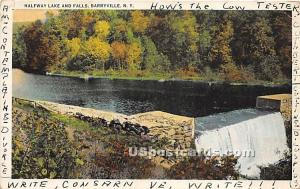 Halfway Lake and Falls Barryville NY Postal used unknown