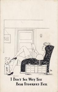 Dog Comic , 1910-30s ; I don't see why the Boss divorced her
