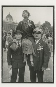 OAP Piggy Back 1937 King George VI Coronation Parade London Postcard
