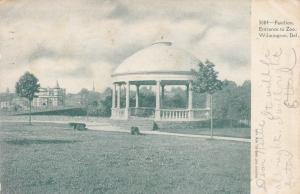 Pavilion at zoo entrance , Wilmington, Delaware , PU-1905