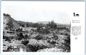 RPPC DUTCH FLAT, CA View of HYDRAULIC MINING Tailings  c1950s  Frasher  Postcard