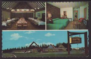 Motel L'escale,Val D'or,Quebec,Canada Postcard BIN