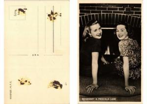 CPA Priscilla & Rosemary Lane FILM STAR (557506)