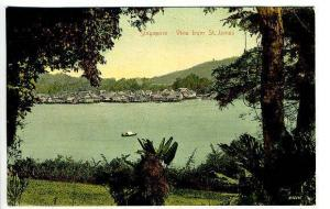 Singapore China View From St James Straits Settlements Postcard
