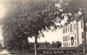 Canby Minnesota~Sidewalk in Front of Public Ƨchool~RPPC 1912