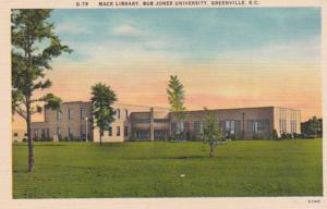 South Carolina Greenville Mack Library Bob Jones University