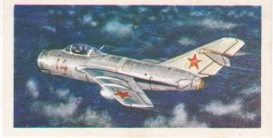 Trade Card Brooke Bond Tea History of Aviation black back reprint No 33 MIG-15