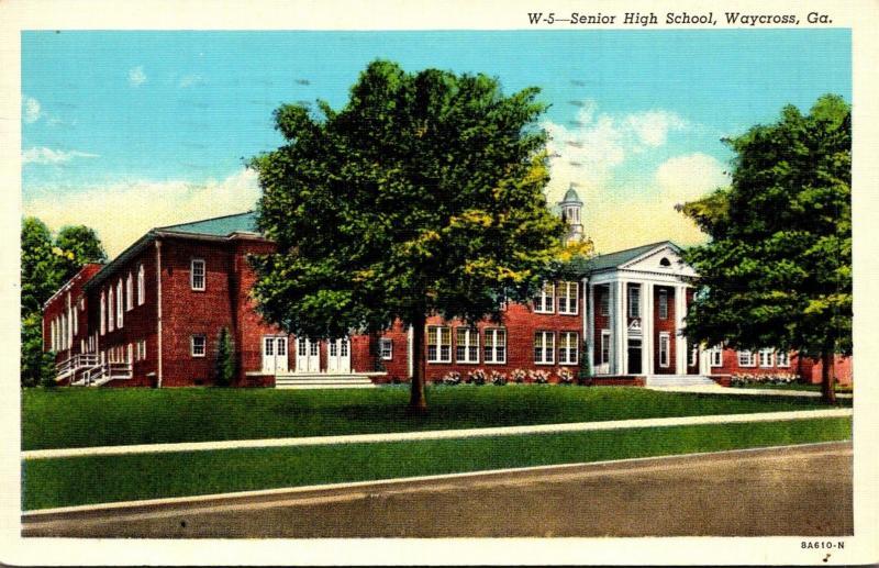 Senior High School Waycross Georgia 1941 Curteich