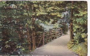 New York Rochester Rustic Bridge In Park 1908
