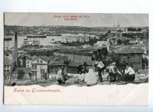 190594 TURKEY CONSTANTINOPLE Pera naive type Vintage postcard