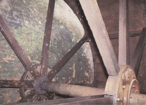 Hornsbury Mill Chard Somerset Waterwheel Postcard