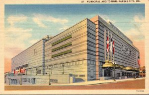Missouri Kansas City Municipal Auditorium Curteich
