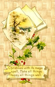 Greeting - Christmas    (Winsch)      creases