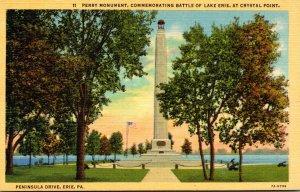 Pennsylvania Erie Peninsula Drive Perry Monument Commemorating Battle Of Lake...