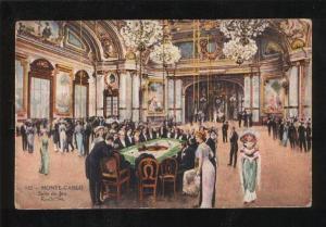 058675 MONACO Monte Carlo Salle de Jeu Roulettes Old