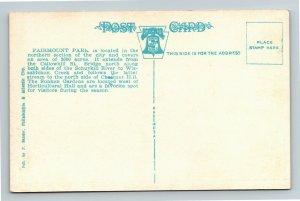 Philadelphia PA, Lotus Inn Bridge, Fairmount Park, Vintage Pennsylvania Postcard