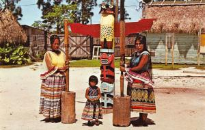 Florida Everglades Indian Villages Grinding corn age old ritual