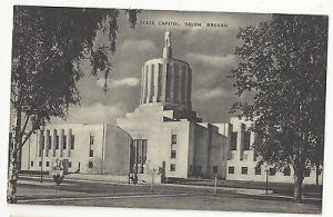 OR Salem Oregon State Capitol Vintage 1940s Mayrose Co Postcard