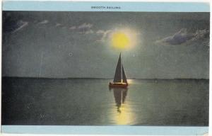 Smooth Sailing, unused Postcard