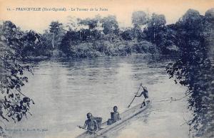 Gabon Franceville (Haut-Ogooue) Passeur de Passa Pirogue boat native people 1924