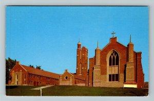 Salt Lake City UT-Utah, First Baptist Church, Chrome Postcard