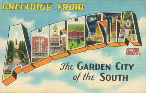 USA Greetings from Augusta The Garden City of the South 01.73