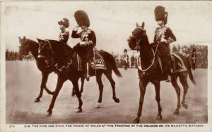 RP, H. M. The King & H.R.H. The Prince Of Wales At The Trooping Of The Colour...