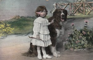 Girl & Dog , PU-1909