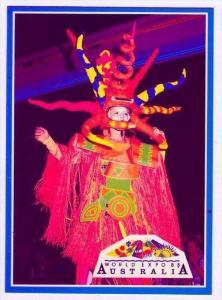 Qantas Light Fantastic Parade figure, World Expo 1988, Brisbane , Australia